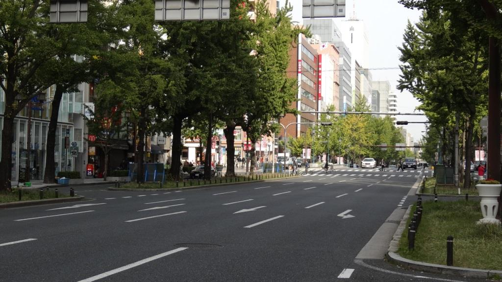 大阪マラソン 御堂筋