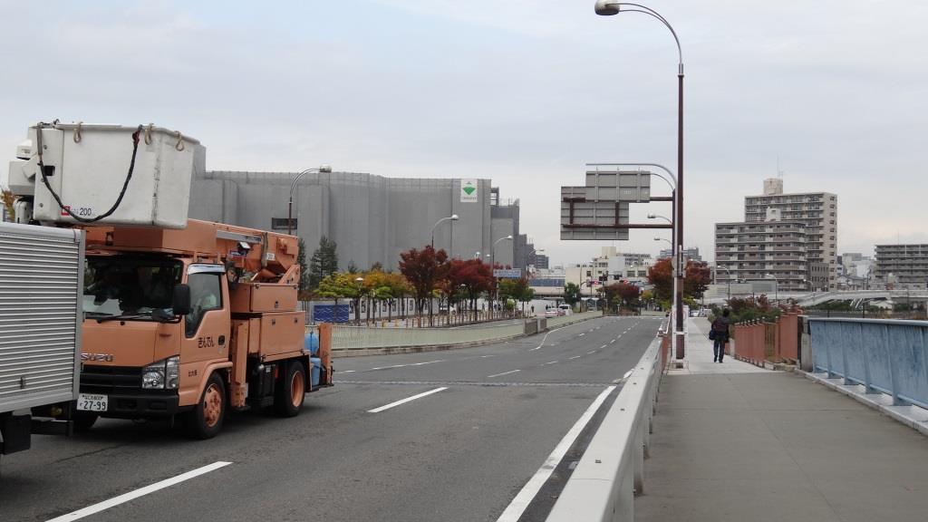 大阪マラソン 京セラドーム付近