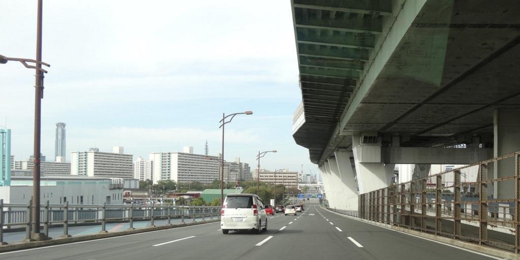 大阪マラソン 南港大橋