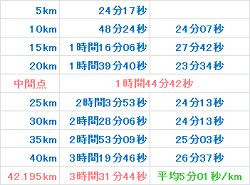 京都マラソン2012 記録